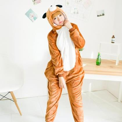 Brown Dog Pajamas Unisex Animal One..